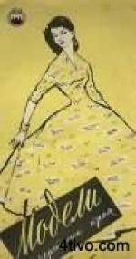 Старый журнал мод с выкройками: Модели и чертежи кроя