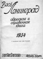 Алфавитный указатель жителей Ленинграда на 1934 год